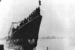 Launching of submarine Runner, Portsmouth Naval Shipyard, Kittery, Maine, United States, 30 May 1942