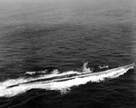 Salmon underway at sea on 15 Feb 1945, while in the Atlantic Ocean en route to Portsmouth, New Hampshire, United States