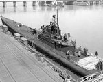 Salmon at the Mare Island Navy Yard, California, United States, 23 Mar 1943, following completion of an overhaul