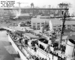 USS San Diego in drydock No. 2 of Mare Island Naval Shipyard, Vallejo, California, United States, 1 Nov 1945, photo 1 of 2