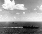 Carriers San Jacinto and Lexington off the Mariana Islands, 13 Jun 1944