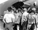 Pilots of VT-51 returned to San Jacinto after attacking the Japanese carrier force, Battle off Cape Engaño, 25 Oct 1944