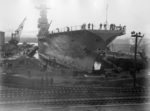 USS Saratoga at Puget Sound Naval Shipyard, Bremerton, Washington, United States, 17 Nov 1930