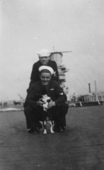 Sailors of USS Saratoga with the ship