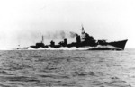 Shimakaze during her trials, circa mid-May 1943; this is the only known photo of this ship