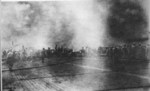 Crew of Shokaku fighting fires during Battle of the Santa Cruz Islands, 26 Oct 1942