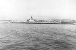 Port side view of USS Spot, off Mare Island Naval Shipyard, Vallejo, California, United States, 22 Sep 1944