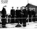 Commissioning ceremony of USS Tang, Mare Island Navy Yard, Vallejo, California, United States, 15 Oct 1943