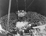 Boxing match held on board battleship Texas during Battle Fleet maneuvers, off Panama, 1923