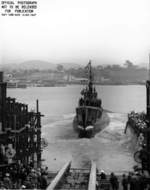 Launching of USS Trepang, Mare Island Naval Shipyard, California, United States, 23 Mar 1944