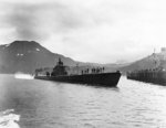 Submarine USS Triton at Dutch Harbor, US Territory of Alaska, 16 Jul 1942