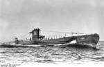 German submarine U-36 at sea, late 1936, photo 1 of 3