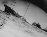 Yamakaze sinking as seen from the periscope of USS Nautilus, 25 Jun 1942, photo 2 of 2
