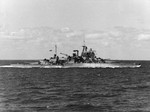 HMS Valiant underway at sea, 1939-1945