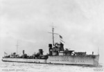 Starboard side view of destroyer HMAS Vampire, circa 1940