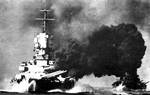Vittorio Veneto firing on British ships, Battle of Cape Spartivento, 27 Nov 1940