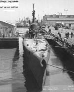 USS Wahoo at Mare Island Navy Yard, Vallejo, California, United States, 16 Jul 1943, photo 1 of 2