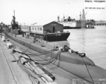 USS Wahoo at Mare Island Navy Yard, Vallejo, California, United States, 16 Jul 1943, photo 2 of 2