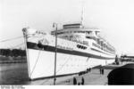 Wilhelm Gustloff, as a hospital ship, at Danzig, 23 Sep 1939