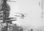 7F.1 Snipe biplane immediately after being launched by the catapult of battleship Yamashiro, off Yokosuka, Japan, 29 Mar 1922