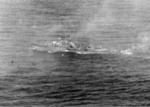 Yasoshima being attacked by US carrier aircraft west of Luzon, Philippine Islands, 25 Nov 1944, photo 2 of 3