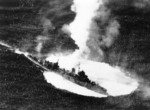 Yasoshima being attacked by US carrier aircraft west of Luzon, Philippine Islands, 25 Nov 1944, photo 3 of 3