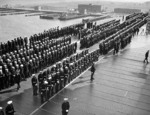 Commissioning ceremony of USS Yorktown, Naval Operating Base, Norfolk, Virginia, United States, 30 Sep 1937