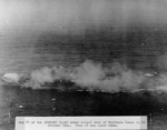 Zuikaku under attack and smoking, 25 Oct 1944