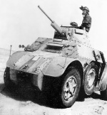 Italian AB 41 armored car in North Africa, date unknown