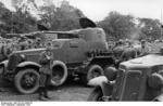 German troops inspecting Soviet BA-10 armored cars in Lublin, Poland, Sep 1939, photo 1 of 2