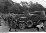 German troops inspecting Soviet BA-10 armored cars in Lublin, Poland, Sep 1939, photo 2 of 2