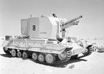 Valentine Bishop self-propelled gun in the Western Desert, Egypt, 25 Sep 1942, photo 1 of 3
