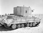 Valentine Bishop self-propelled gun in the Western Desert, Egypt, 25 Sep 1942, photo 2 of 3