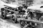 Polish C7P vehicle towing a heavy artillery piece, date unknown, photo 3 of 3