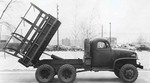 Factory photo of GMC CCKW 2 1/2-ton 6x6 closed cab short wheel base dump truck, Pontiac, Michigan, United States, 1941