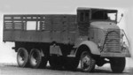 GMC AFKWX 2 1/2-ton 6x6 transport truck, a predecessor to and cab-over version of the CCKW, date unknown