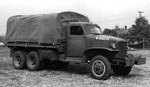 Early GMC CCKW 2 1/2-ton 6x6 closed cab long wheel base transport with winch, Pontiac, Michigan, United States, 1940