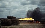 Churchill Crocodile flamethrower tank in action, Aug 1944