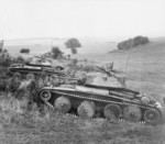 Cruiser Mk V Covenanter III tanks of British 9th Queen