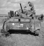 Cruiser Mk V Covenanter III tank of British 9th Armoured Division undergoing engine maintenance in the field, Guisborough, Yorkshire, England, United Kingdom, 29 Aug 1941