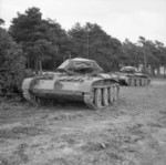 Cruiser Mk V Covenanter III tanks on Exercise Bumper in Britain, 30 Sep 1941
