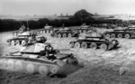 Polish Covenanter tanks on exercise in Scotland, United Kingdom, 1941