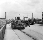 Cromwell tanks of British 7th Armored Division, Hamburg, Germany, 3 May 1945