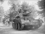 Cruiser Mk IV tanks of British 3rd Royal Tank Regiment on exercise in East Anglia, England, United Kingdom, 3 Sep 1940, photo 1 of 2