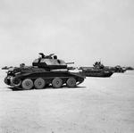 Cruiser Mk IV tank and Infantry Mk II Matilda tank at a depot in Egypt, 5 Sep 1941