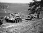 Cruiser Mk IV tanks of 5th Royal Tank Regiment of 3rd Armoured Brigade of British 1st Armoured Division at Thursley Common, England, United Kingdom, Jul 1940