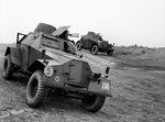 Humber Light Reconnaissance Cars Mk II of 29th Independent Squadron of British Reconnaissance Corps at Shanklin, Isle of Wight, England, United Kingdom, 5 Mar 1942, photo 1 of 2