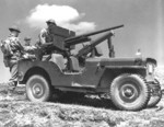 Willys MB vehicle armed with 37-mm gun and its crew, Newfoundland, 1942