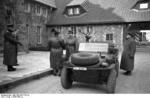 Hermann Göring greeting a SS officer at his Carinhall residence, Schorfheide forest, Germany, 1939-1945
