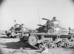 Captured Italian M13/40 and M11/39 tanks pressed into Australian service, North Africa, 23 Jan 1941